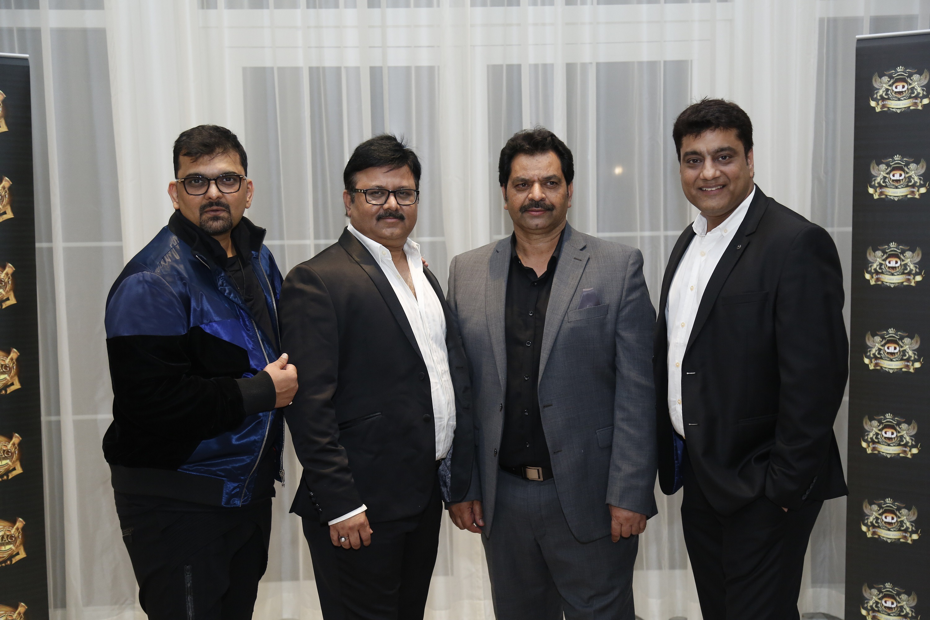Entertainemnt entrepreneur Munir Awan Sheikh (Left), Theyab Bin Khalifa Bin Hamdan Al Nahyan (Middle), and Producer Gaurang Doshi (Right)