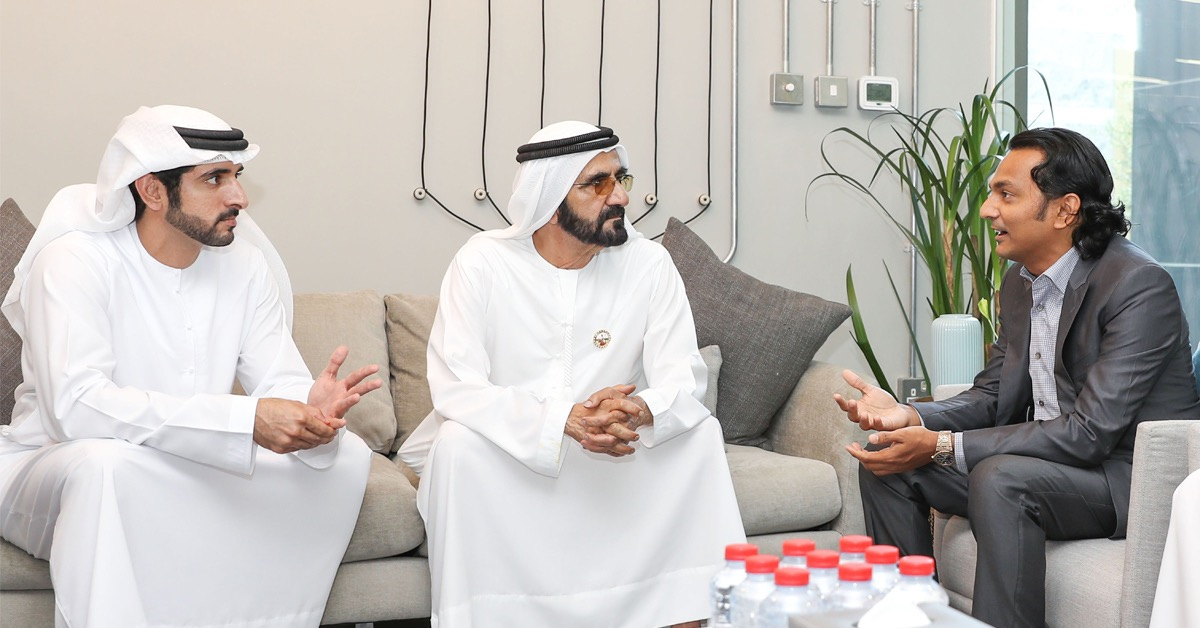 Indian billionaire businessman Divyank Turakhia meets the Ruler of Dubai