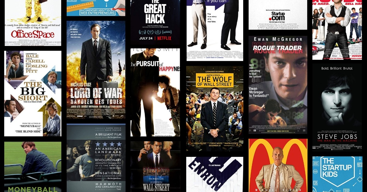 Top 40 inspirational movies for entrepreneurs & startup founders