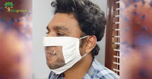 Biogreen develops a transparent biodegradable face mask