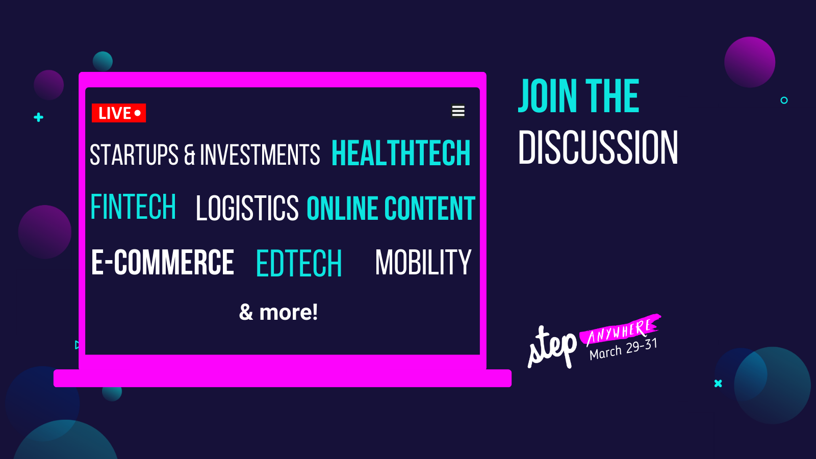 Step Anywhere 2021 to provide opportunities for startups to showcase their product or service