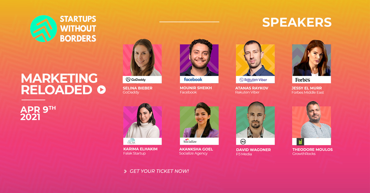 Marketing Reloaded by Startups Without Borders kicks off with a stellar lineup on April 9th
