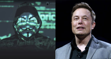 Anonymous hacker group threatens Elon Musk in a video